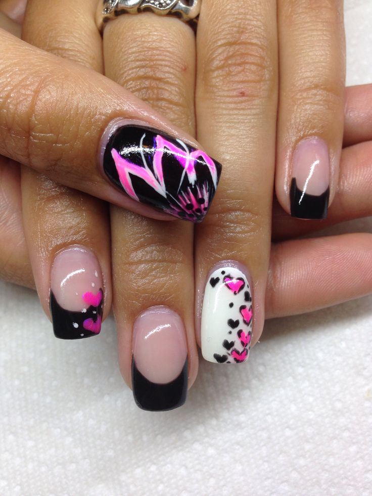 Drawn nail funky Using design on Nails drawn