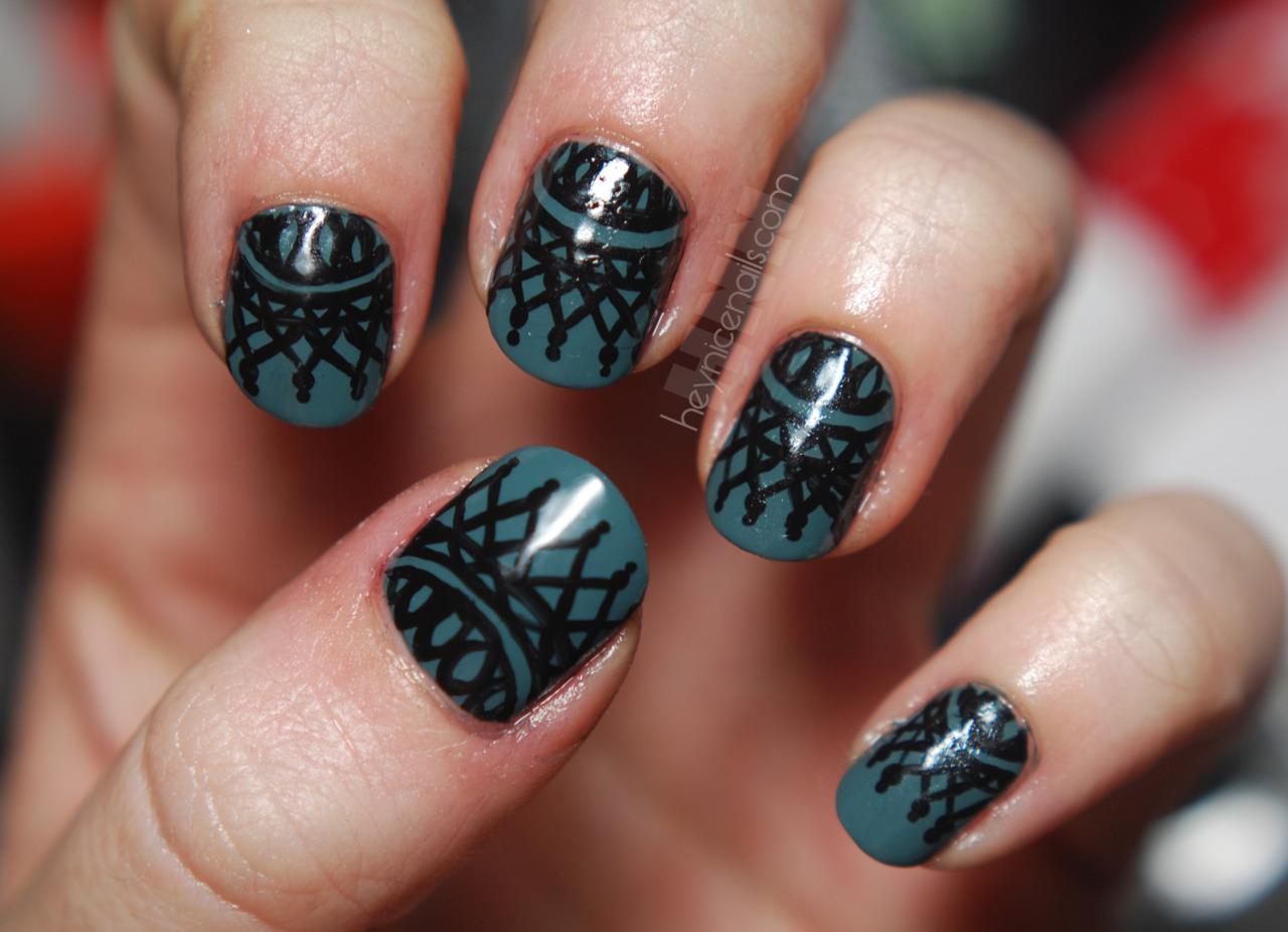 Drawn nail lace  Design next Nail Nail