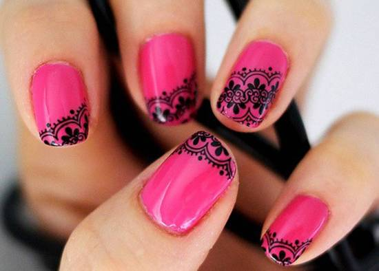 Drawn nail lace Gorgeous Nail Art 20 Art