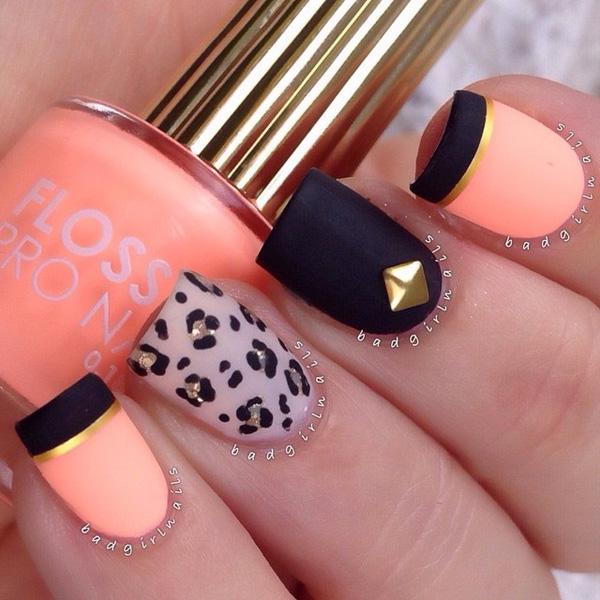 Drawn nail leopard Matte Ideas as leopard are