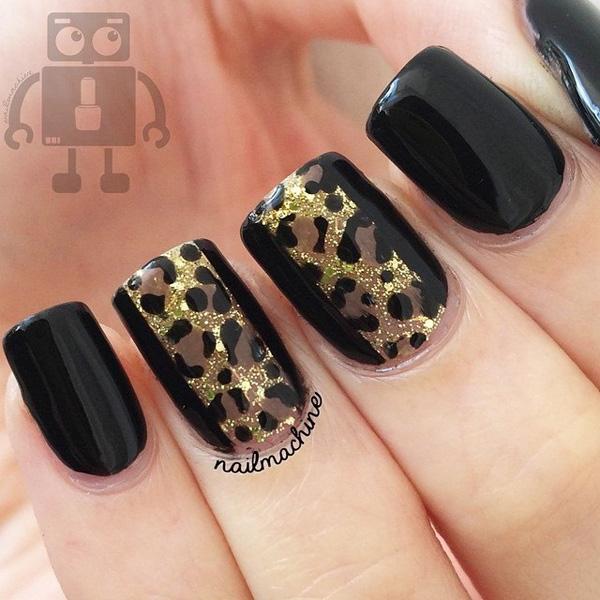 Drawn nail leopard Black Ideas leopard brown the