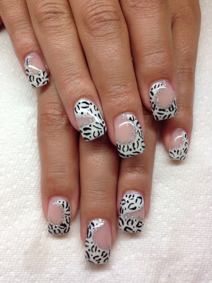 Drawn nail leopard Gel with about images designs*