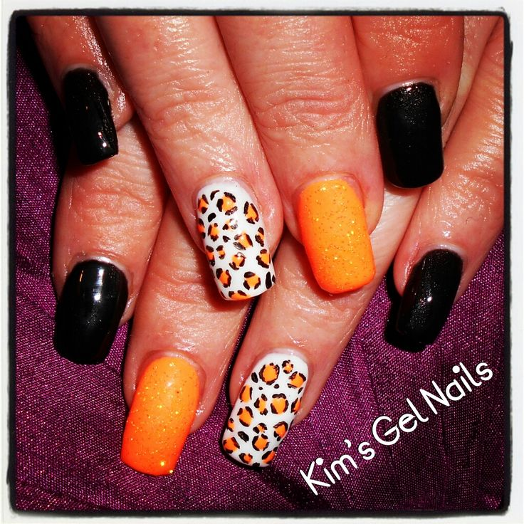 Drawn nail leopard Black images print and and