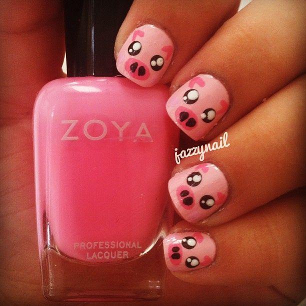Drawn nail pig Animals Pin this and Pigs