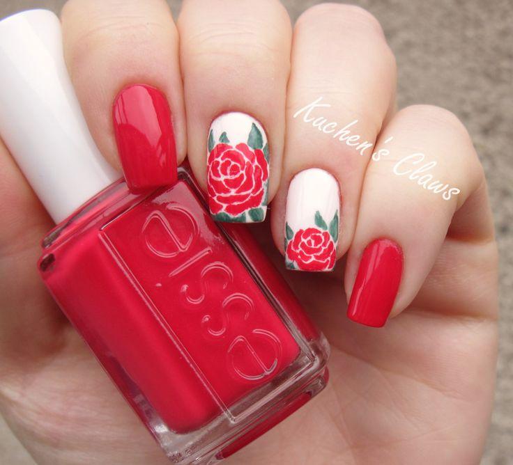Drawn nail pinterest Lace  nail Rose nail