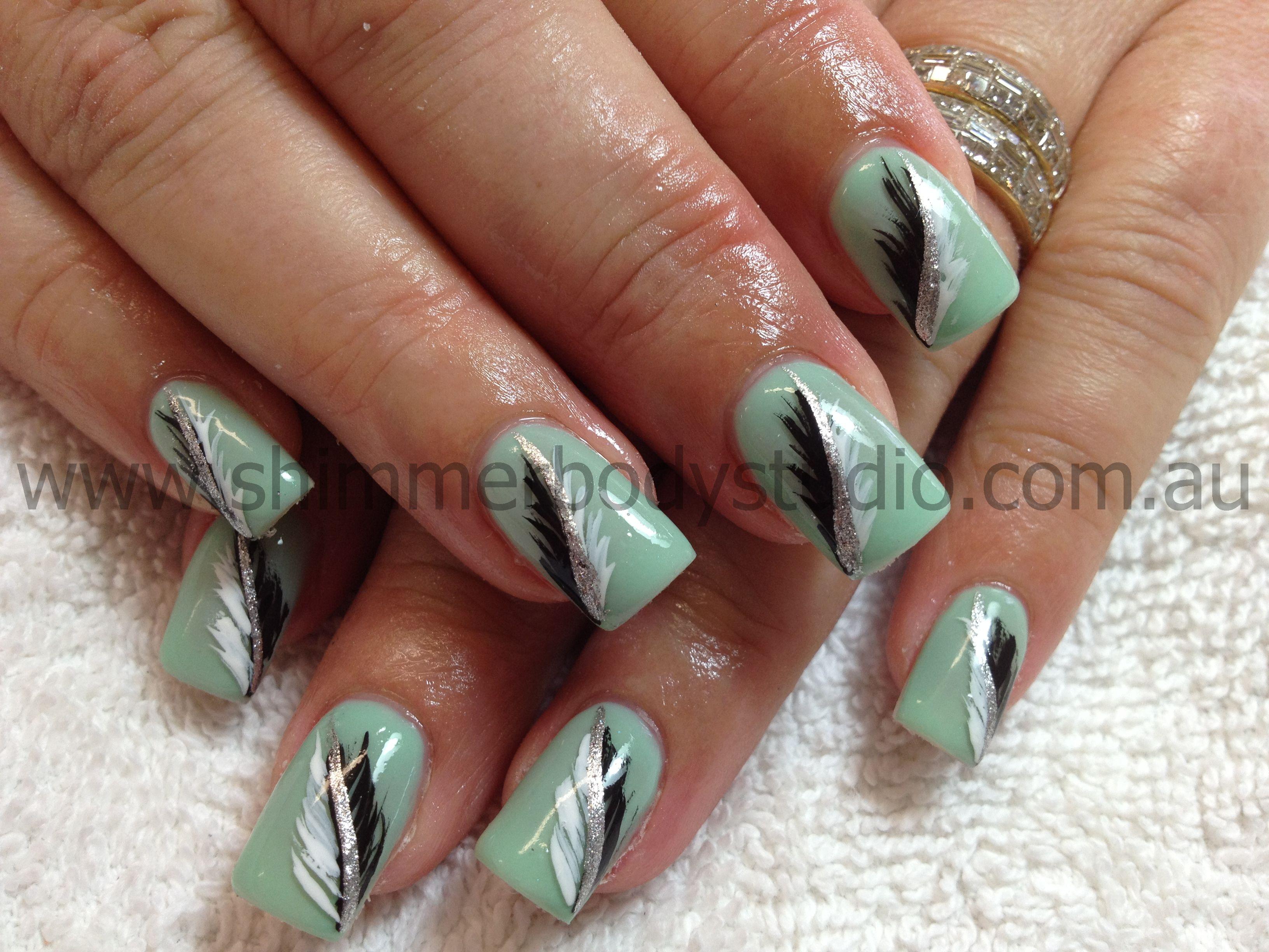 Drawn nail pinterest Gel hand nails nail art