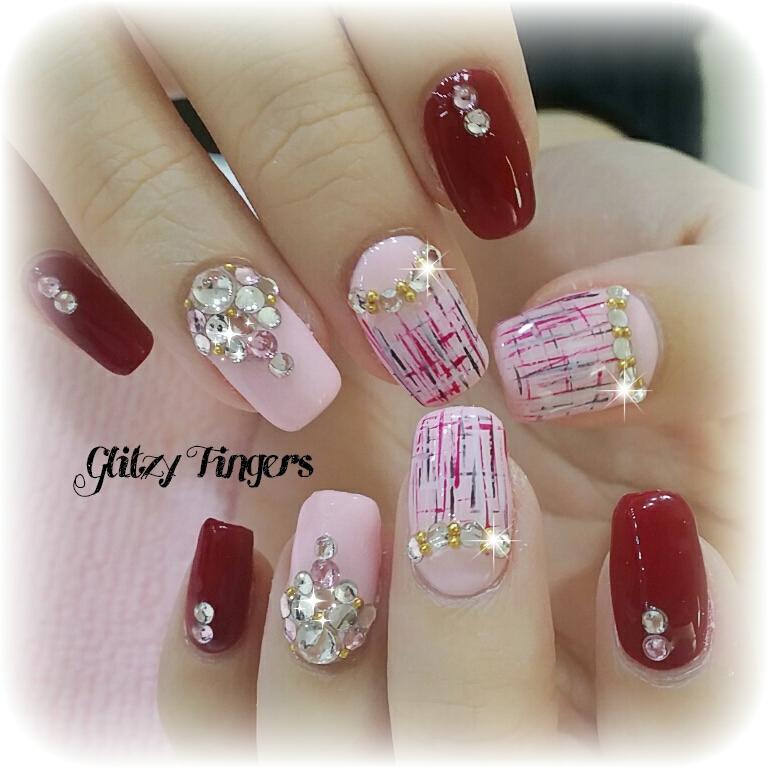 Drawn nail red Nails + Designs Glass Nails