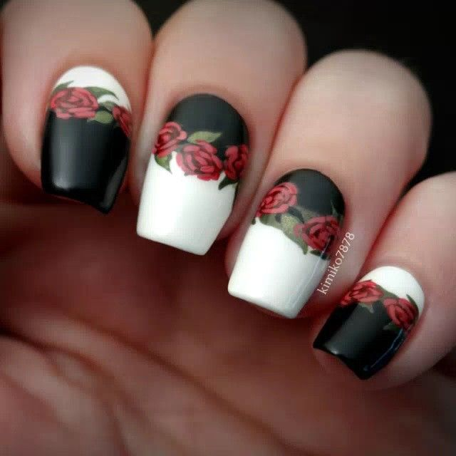 Drawn nail red 25+ Rose for media are