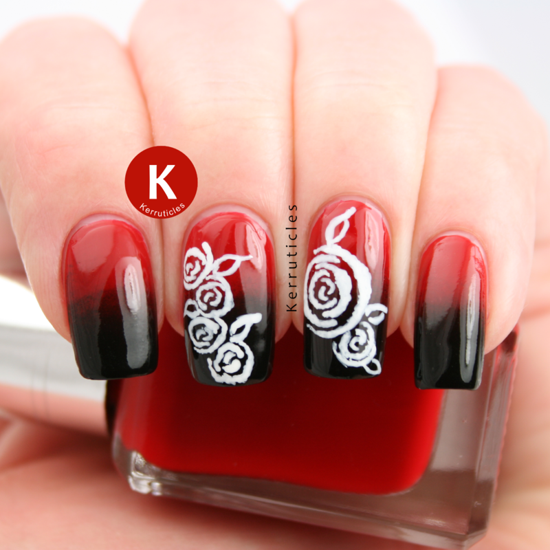 Drawn nail red Claire Kerr nail and hand