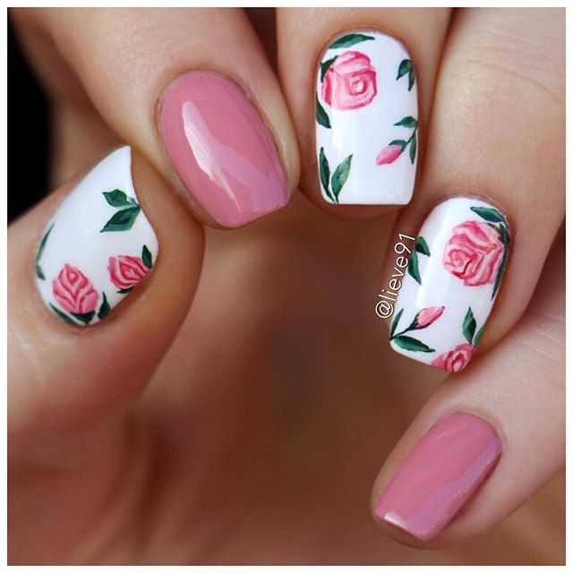 Drawn nail rose Nails Manicures Pinterest a new