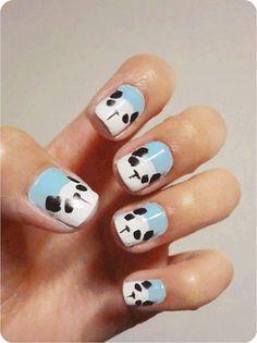 Drawn nail self Art Self 2013/ Nail #panda