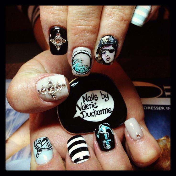 Drawn nail self Nail my hand Nails art