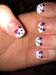 Drawn nail self Pandas painted #panda painted onglets