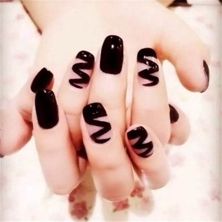 Drawn nail solid Pinterest nail techniques art tips