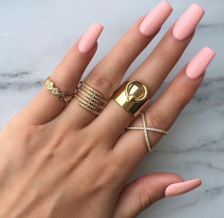 Drawn nail solid Shape nail Square Pinterest Square