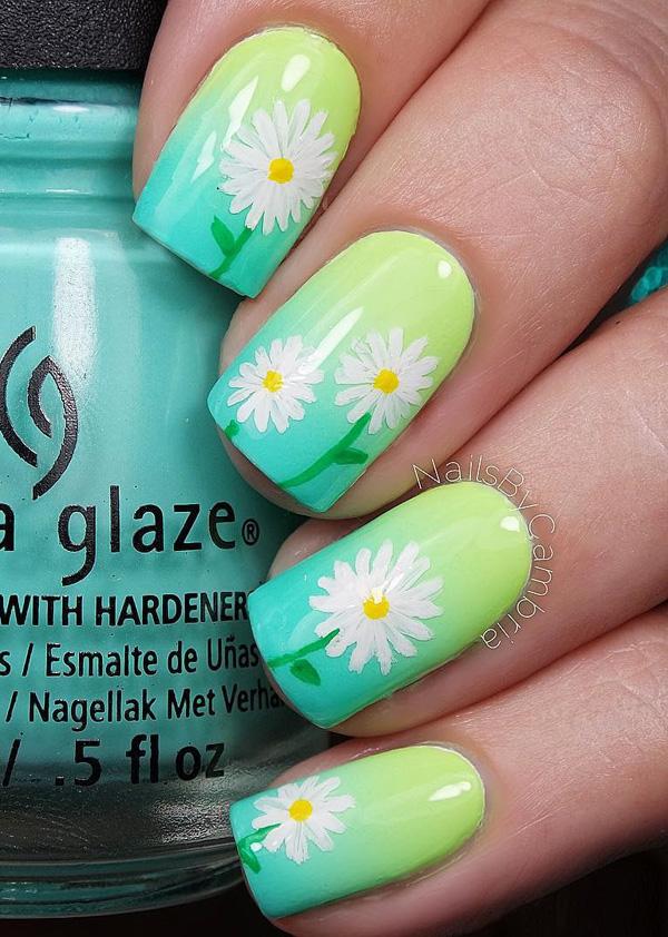 Drawn nail solid Lovely gradient Art Nail base