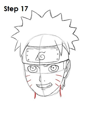 Drawn naruto 17 Naruto to Draw Step