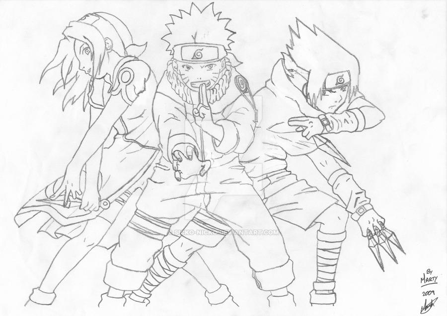Drawn naruto By Naruto Marty' Gang by