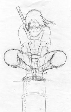Drawn naruto again Sasuke naruto Drawings Places