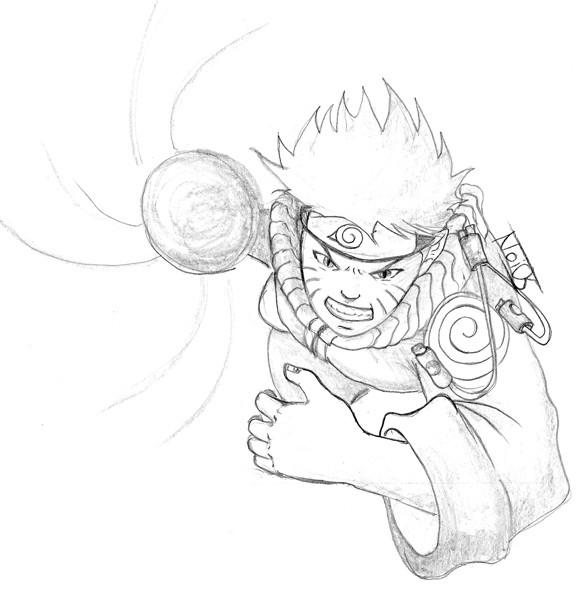 Drawn naruto art Naruto Attacking Harper by com