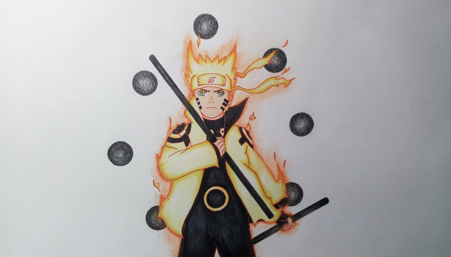 Drawn naruto awesome  Paths The Six Drawing