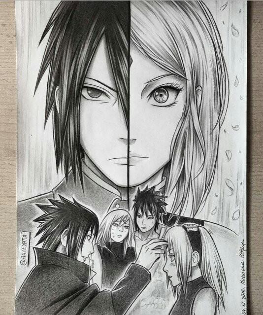 Drawn pice sasuke Naruto Naruto Pinterest an Whoever