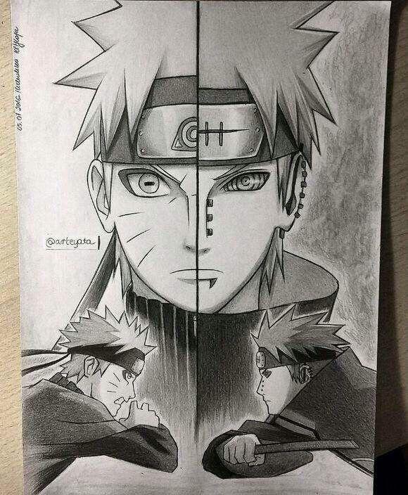 Drawn naruto badass And Arteyata Naruto pain Naruto