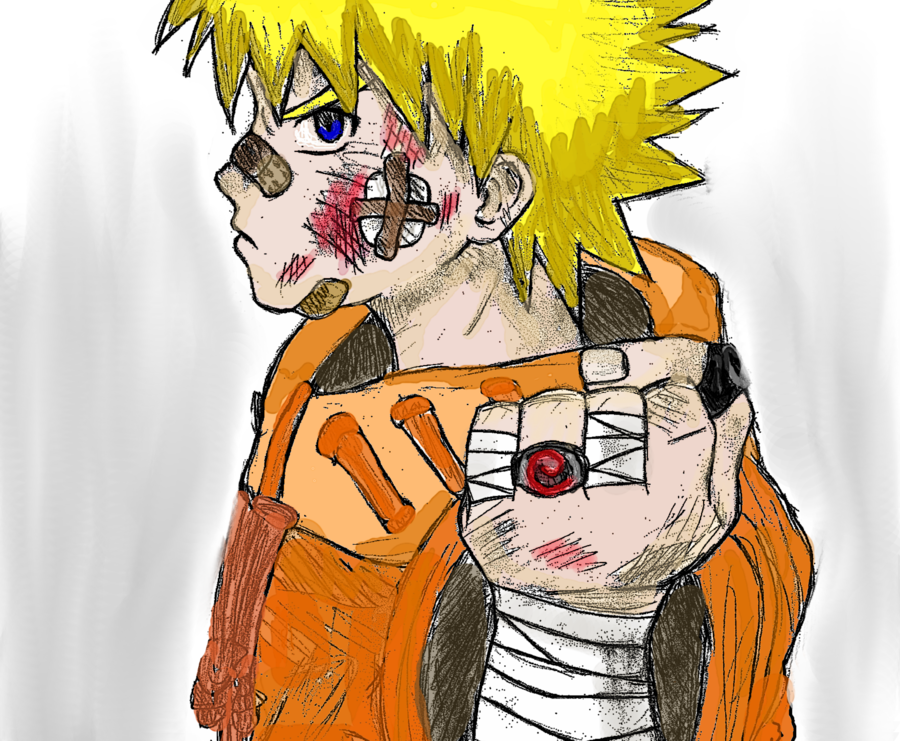 Drawn naruto badass Colored colored naruto by AWESOMENINJA360