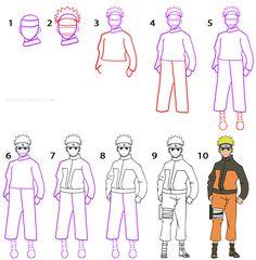 Drawn naruto basic By Step Draw to 1
