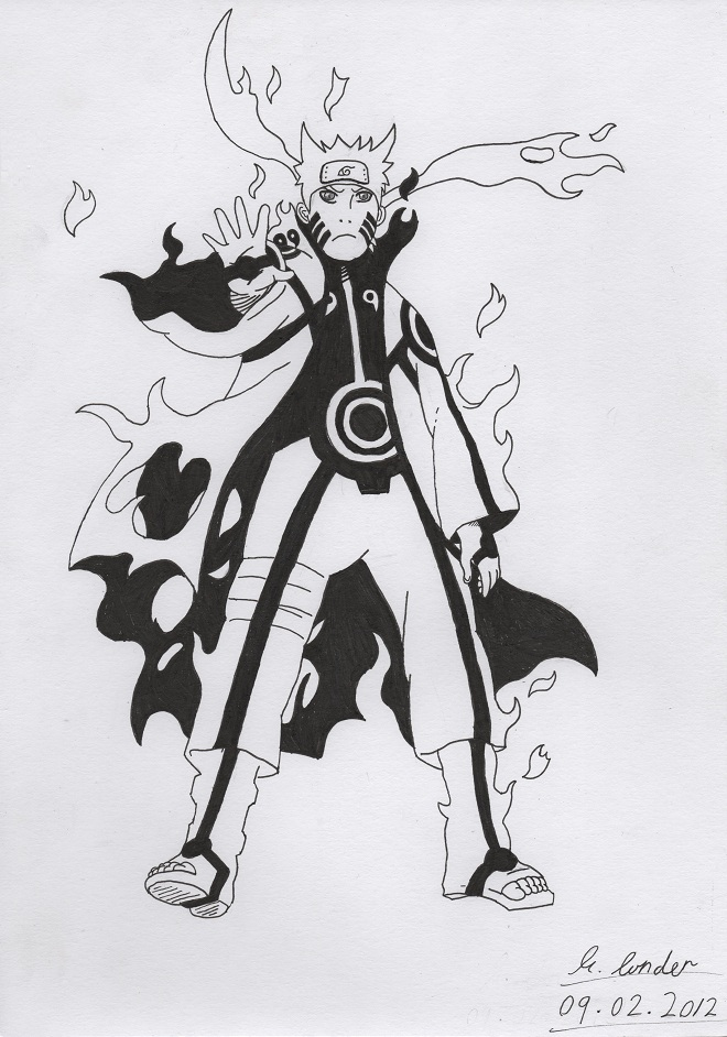 Drawn naruto bijuu Naruto Naruto by bijuu mode