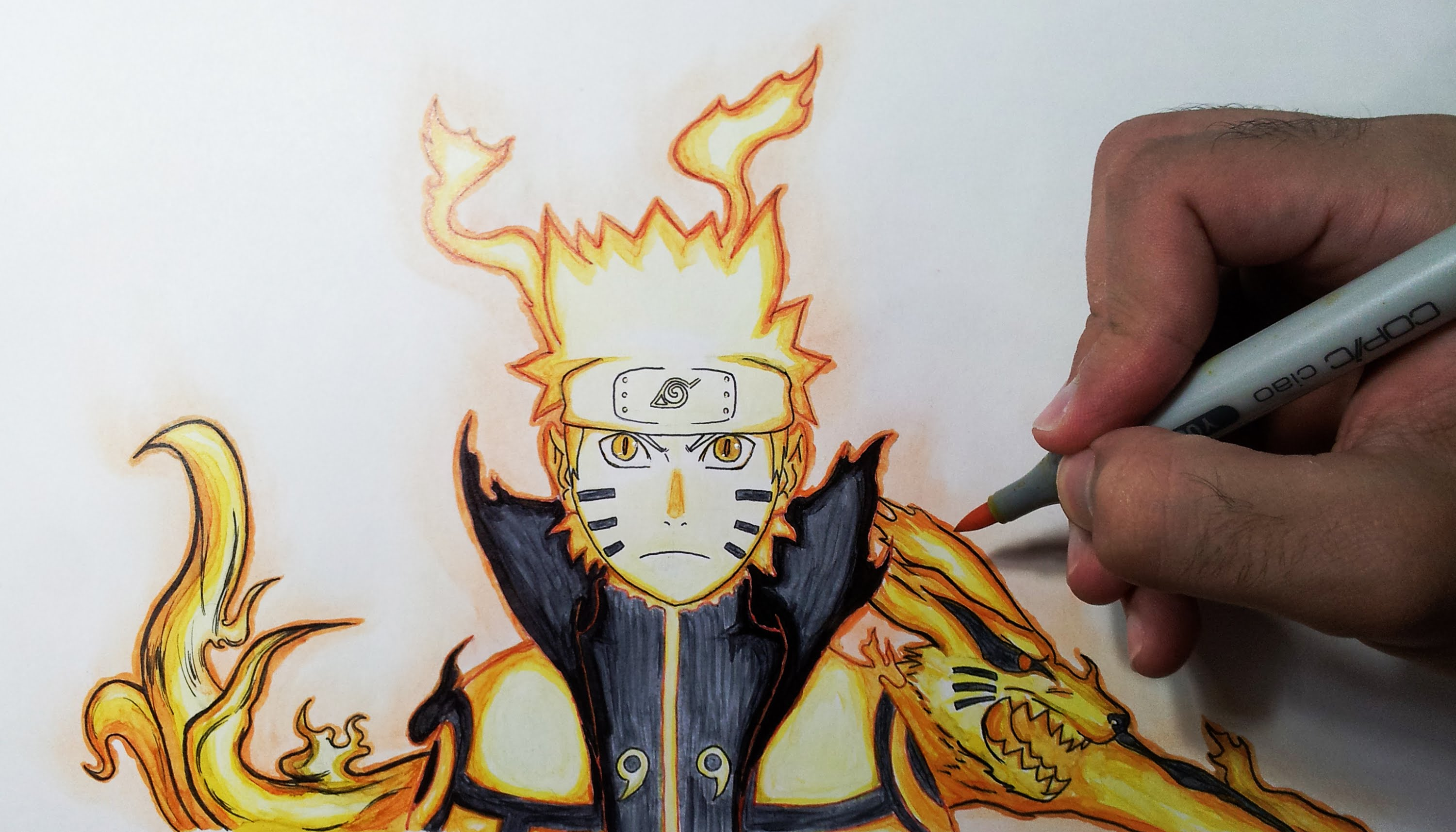 Drawn naruto bijuu YouTube Unsubscribe Bijuu Drawing Naruto