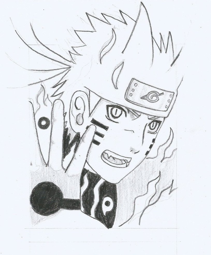 Drawn naruto bijuu Lukisdev Naruto 1 on Naruto