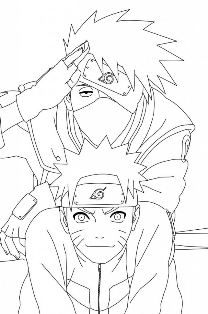 Drawn naruto cartoon Print Coloring pages Naruto Pages