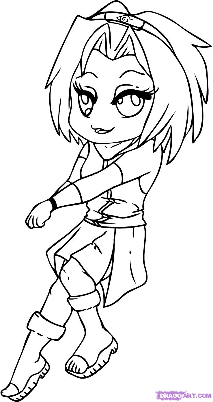 Drawn naruto chibi How Sakura Step Anime sakura