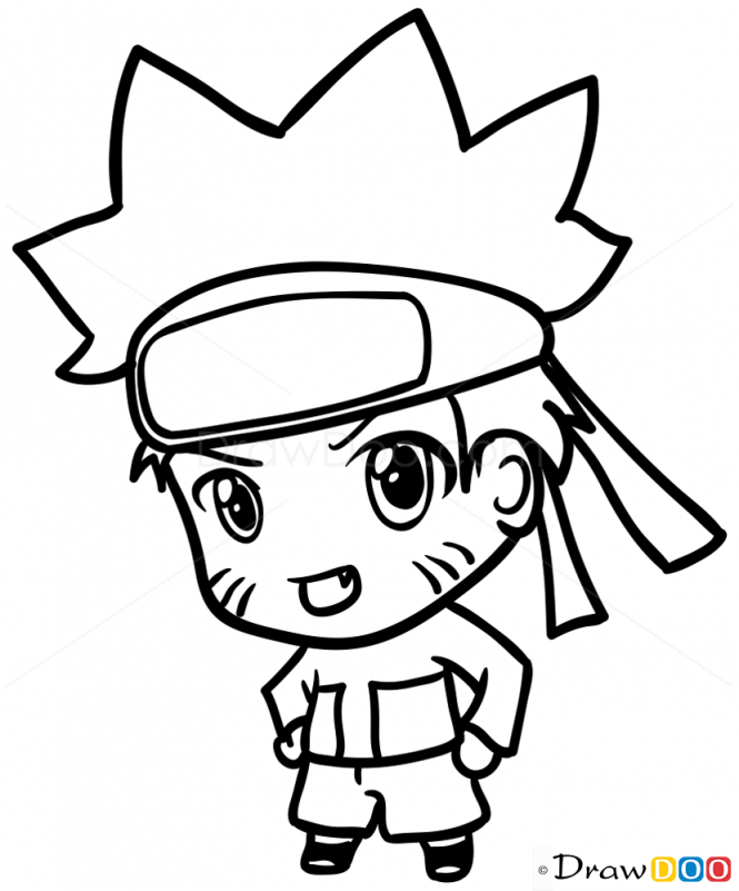Drawn naruto chibi Naruto Draw Chibi to How