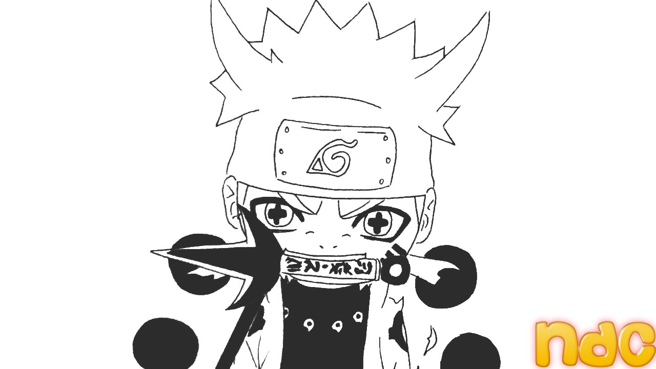 Drawn naruto chibi UZUMAKI SPEED DRAWING MODE OF