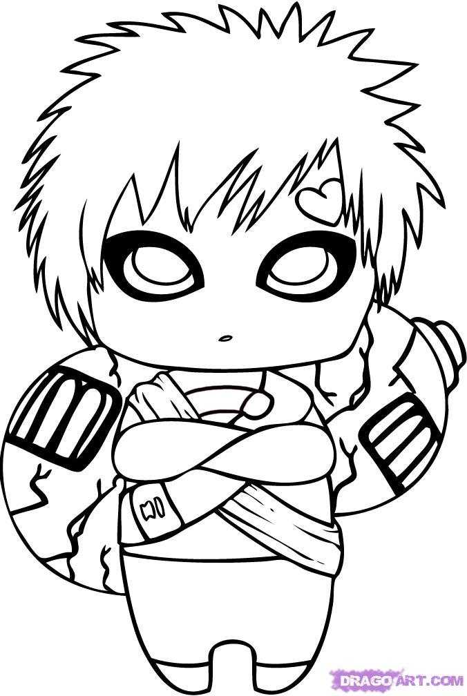 Drawn naruto chibi Draw by Step gaara Draw