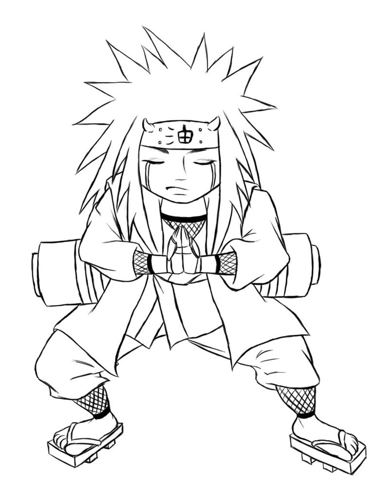 Drawn naruto chibi Jiraiya castello on by kimberly