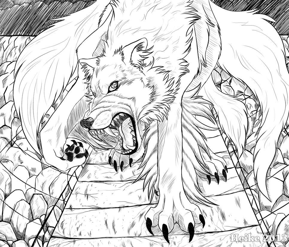 Drawn naruto demon anime DeviantArt Wolf Redrawn Gone Redrawn