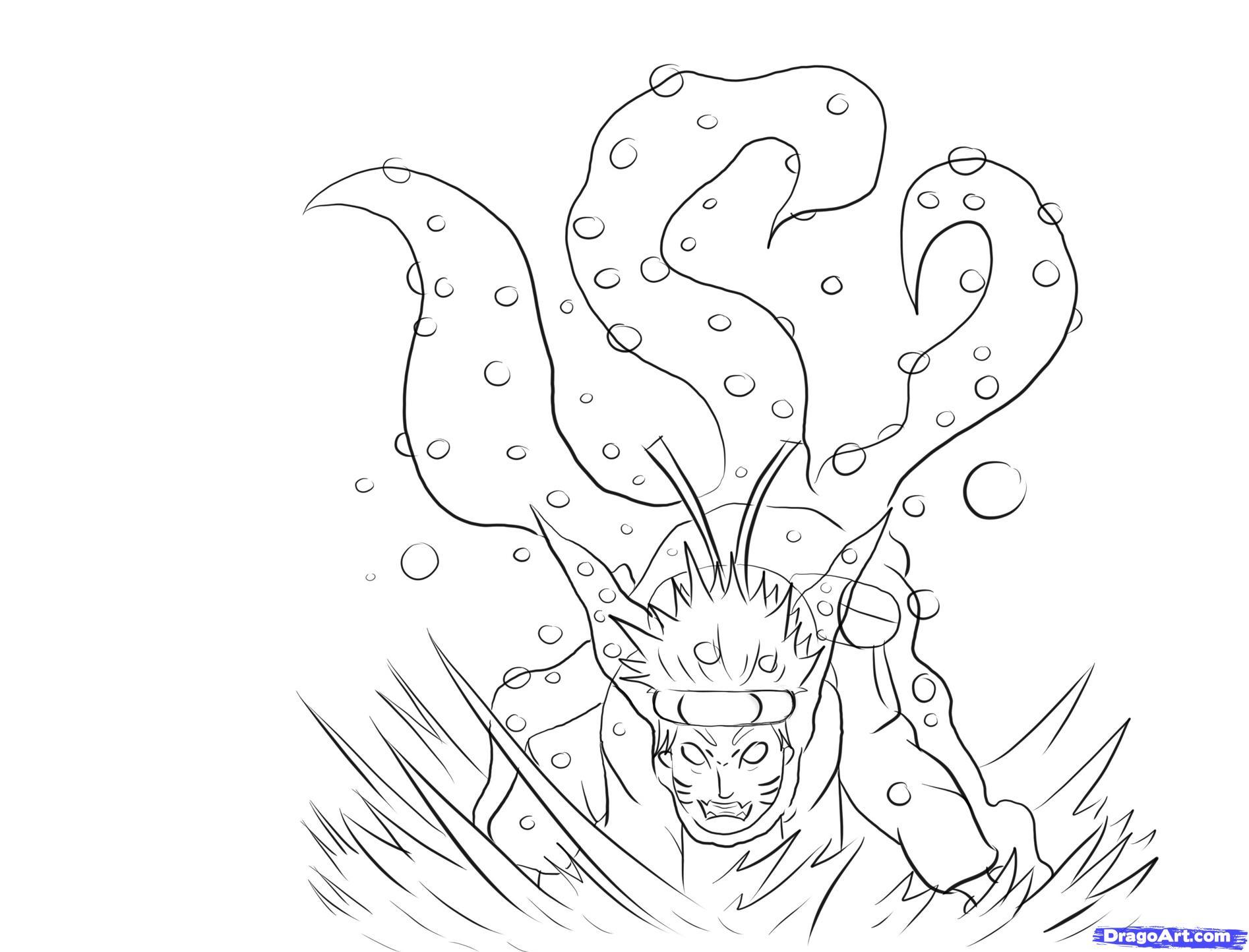 Drawn naruto demon anime By to Naruto Naruto to