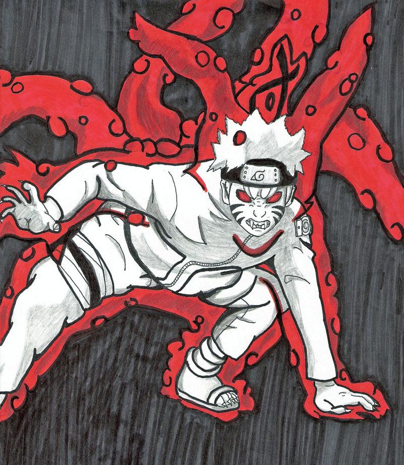 Drawn naruto demon anime  Demon by Fox's by
