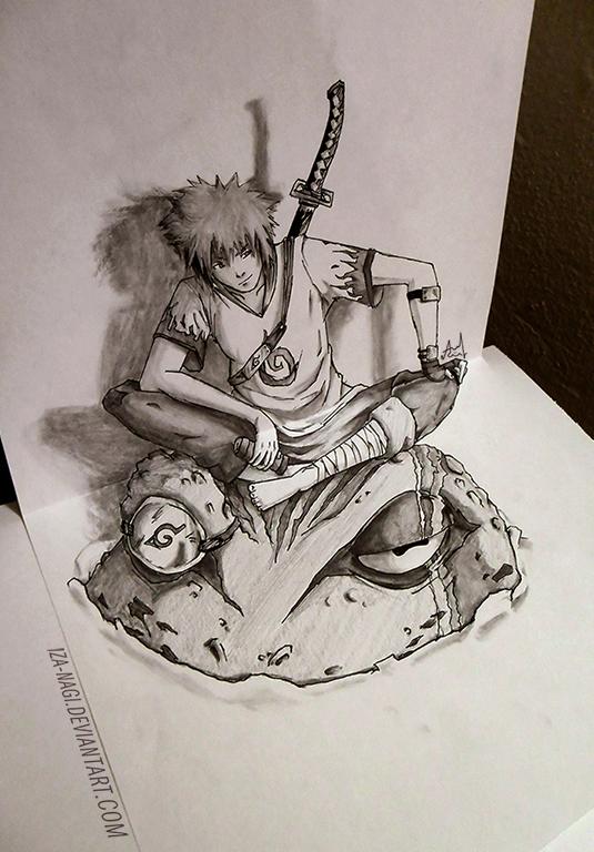 Drawn naruto deviantart HOKAGE Iza Sketch YONDAIME Sketch
