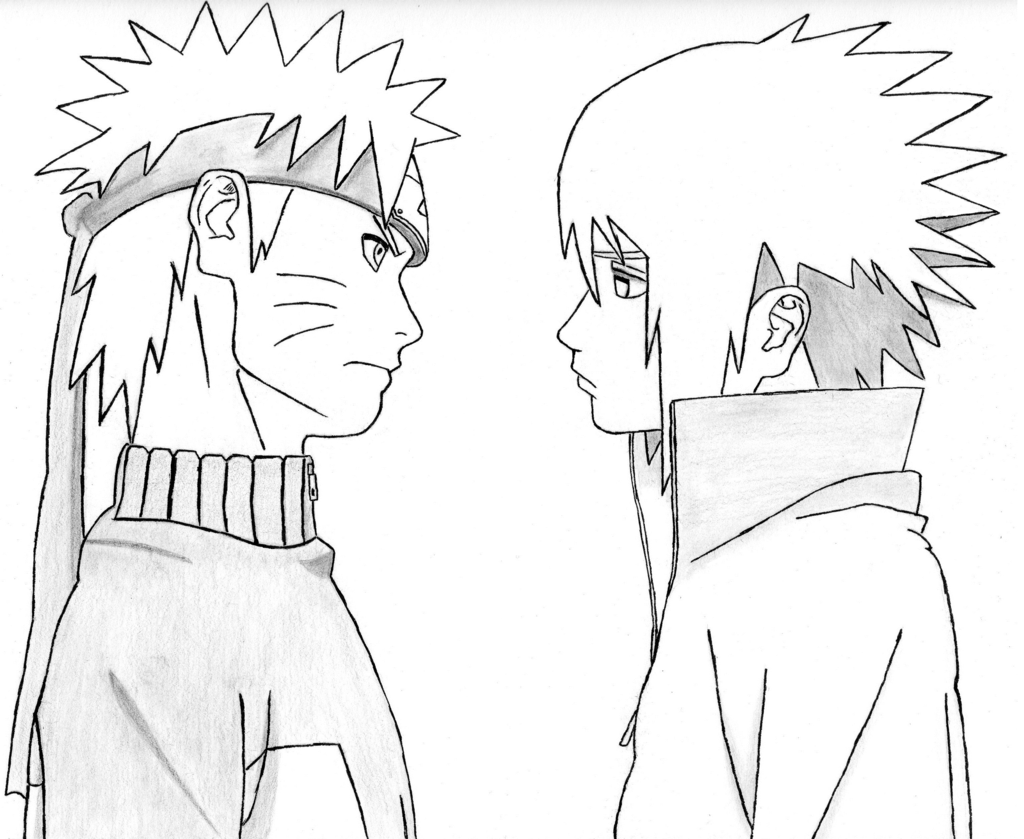 Drawn naruto different style By Naruto by PkkHase0 Sasuke