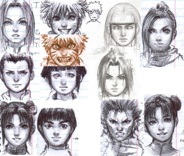 Drawn naruto different style Best Find Pin on and