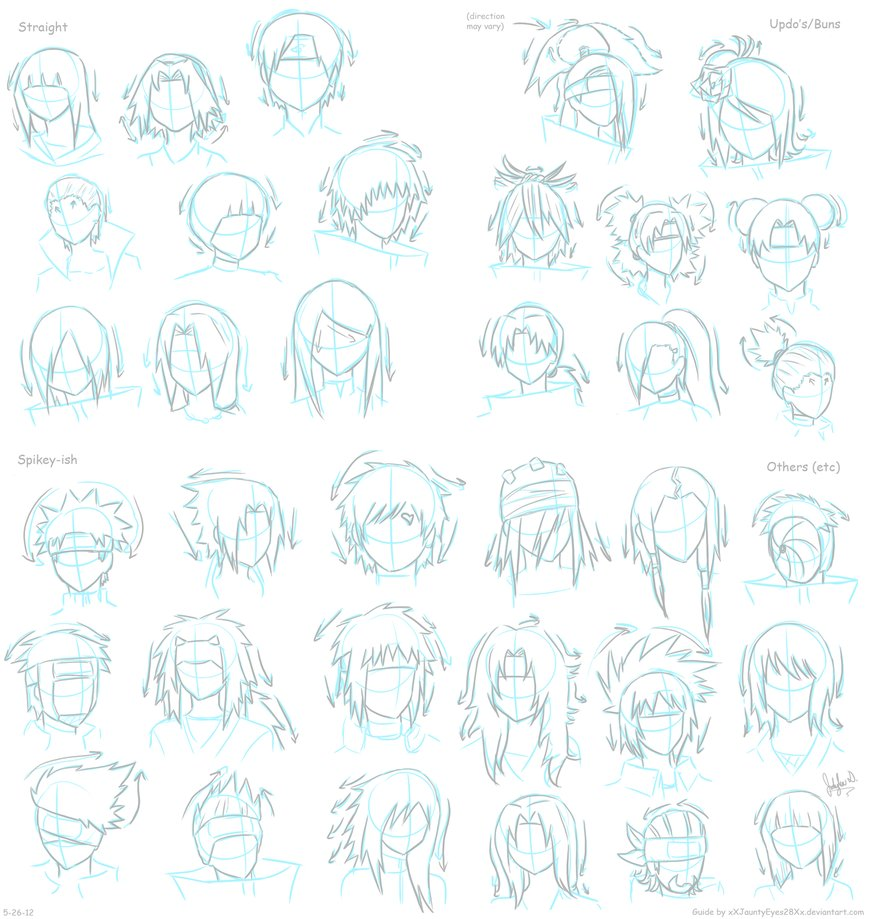 Drawn naruto different style By Naruto Hair Guide JauntyEyes