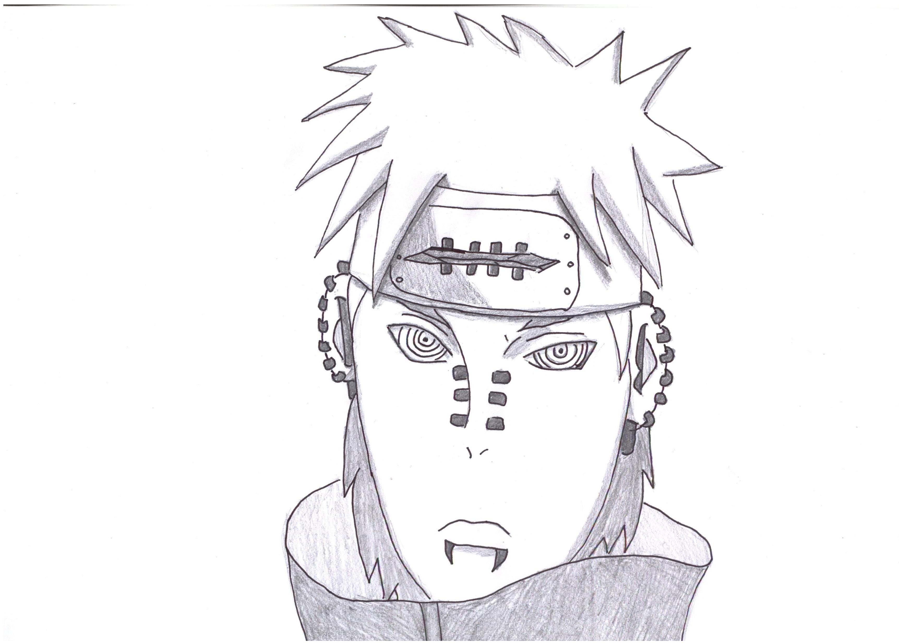 Drawn naruto dragoart Feb Drawing Pain Naruto Shippuden