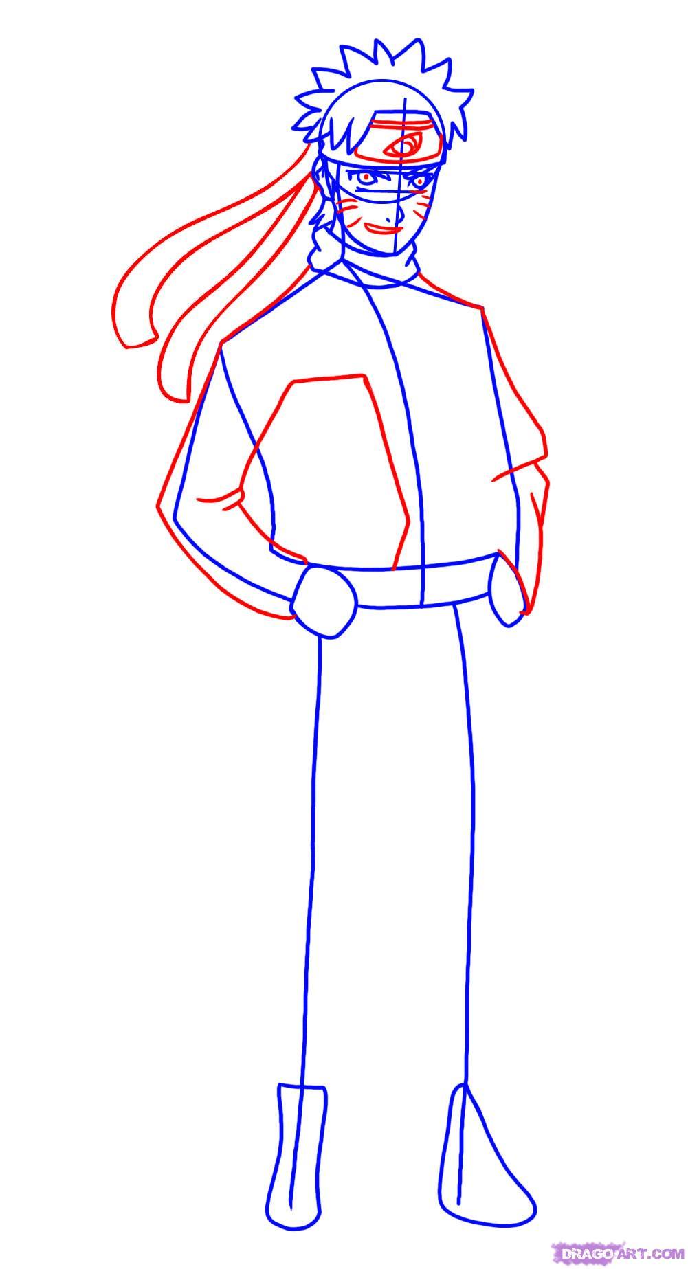 Drawn naruto dragoart Shippuden How Naruto 4 how
