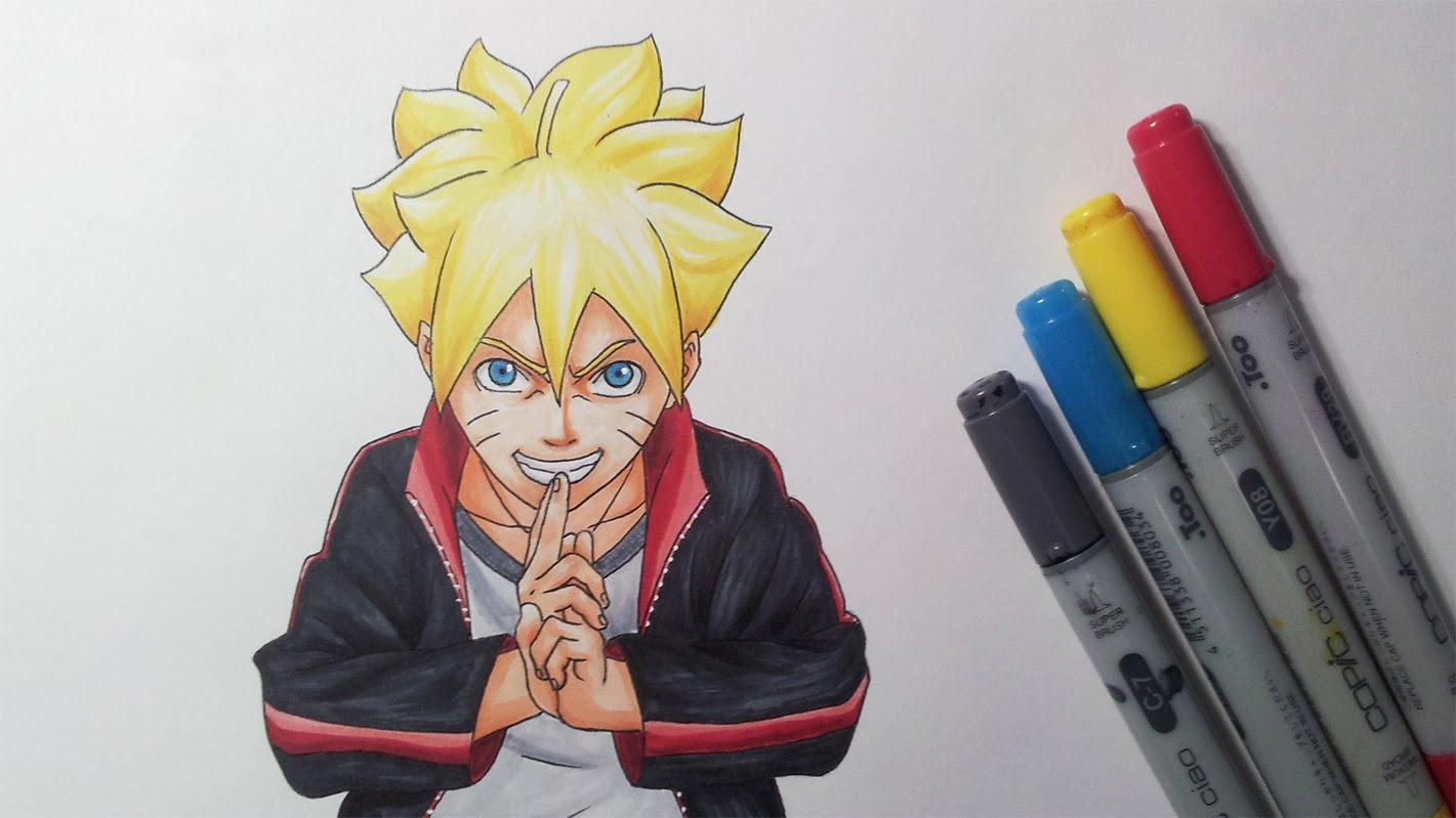 Drawn naruto draw Boruto Uzumaki Movie Boruto: Drawing