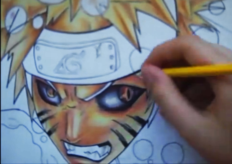 Drawn paper naruto Kyubi and ichigo YouTube and