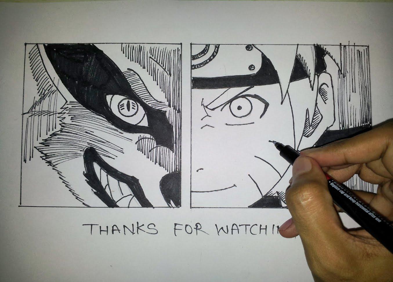 Drawn naruto draw this YouTube Manga Naruto And Drawing
